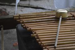occorrente per la purificazione in un santuario shintoista