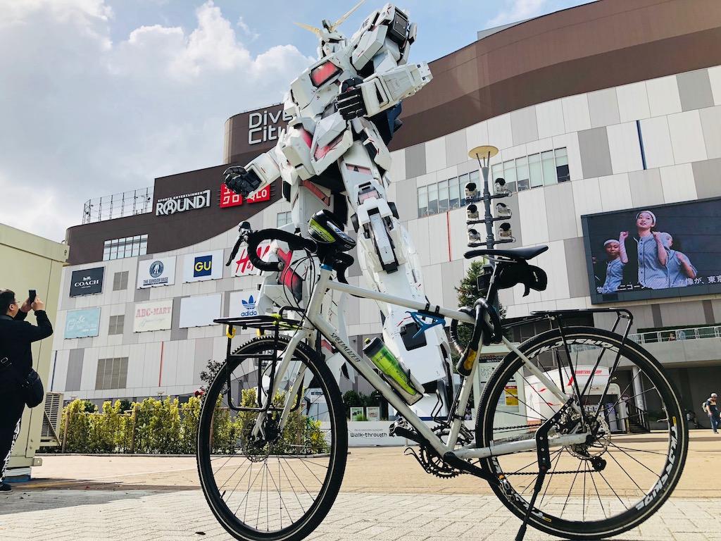Gundam e la sua bici